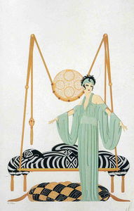 Erté (Romain De Tirtoff) - Pillow Swing