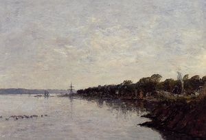 Eugène Louis Boudin - Brest, the Banks of the Harbor