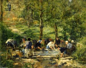 Eugène Louis Boudin - Laundresses