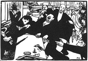 Felix Vallotton - The brawl at the scene or cafe