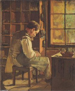 Ferdinand Hodler - The cobbler by the window