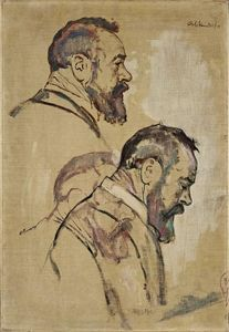 Ferdinand Hodler - Studies of self-portrait
