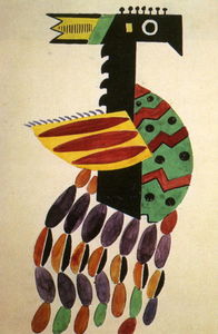 Fernand Leger - The Creation of the World Bird drawing of Costume