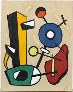 Fernand Leger - Forms in space