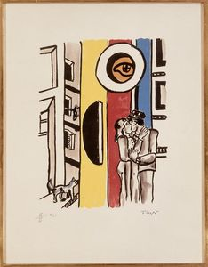 Fernand Leger - Lovers in the Street