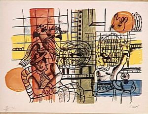 Fernand Leger - The bird market