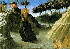 Fra Angelico - Saint Anthony the Abbot Tempted by a Lump of Gold