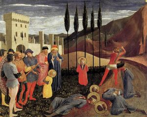 Fra Angelico - Beheading of Saint Cosmas and Saint Damian
