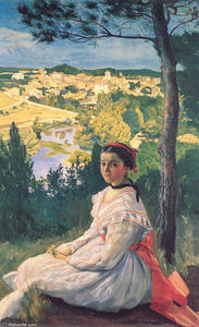 Jean Frederic Bazille - View of the Village of Ca..