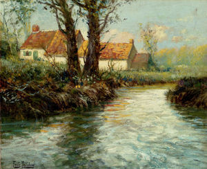 Frits Thaulow - House by yhe Water-s Edge
