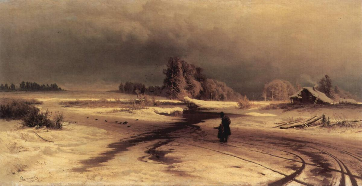 The Thaw, Oil On Canvas by Fyodor Alexandrovich Vasilyev (1850-1873, Russia)