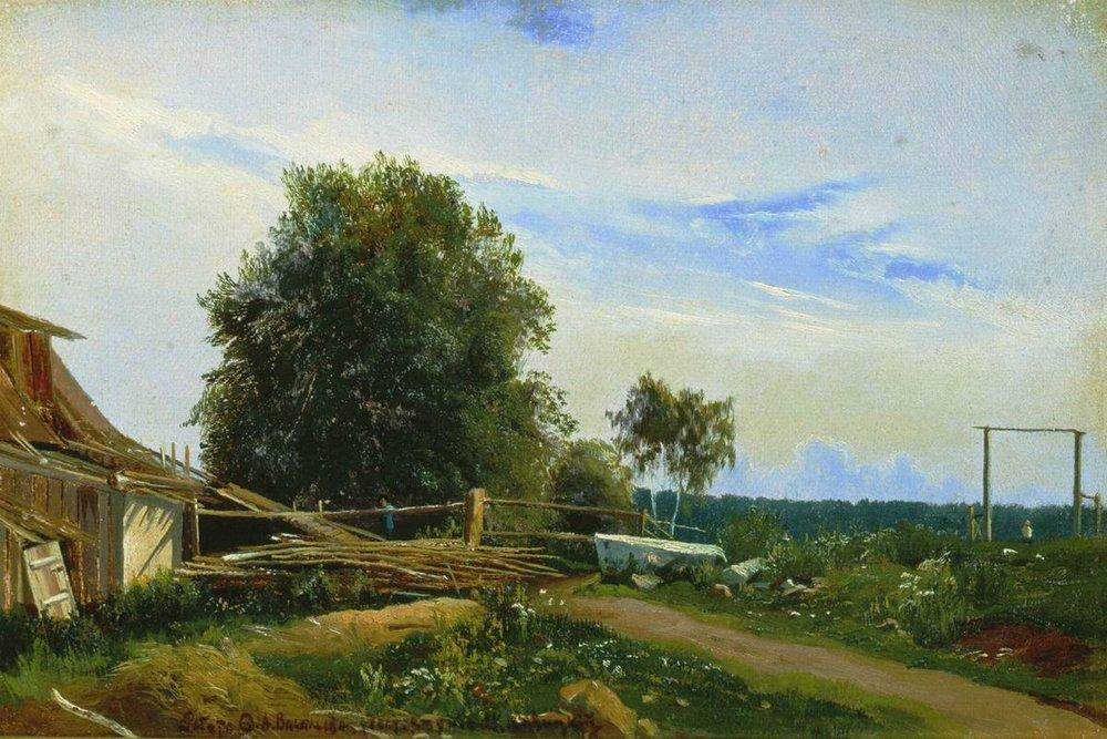 The Barn, 1868 by Fyodor Alexandrovich Vasilyev (1850-1873, Russia)