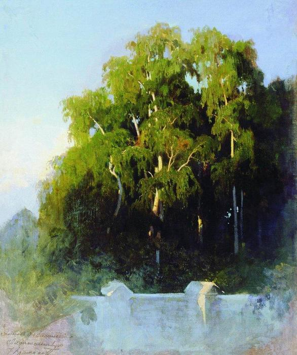 Birch Grove in the Evening, 1869 by Fyodor Alexandrovich Vasilyev (1850-1873, Russia) | Museum Quality Reproductions | ArtsDot.com