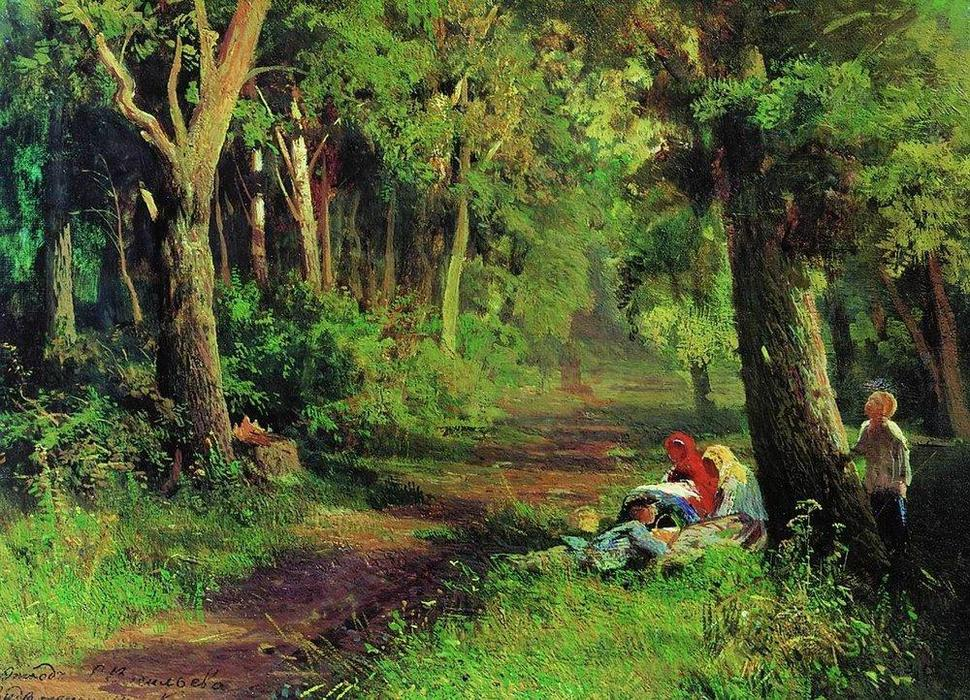 Forest Road, Oil On Canvas by Fyodor Alexandrovich Vasilyev (1850-1873, Russia)