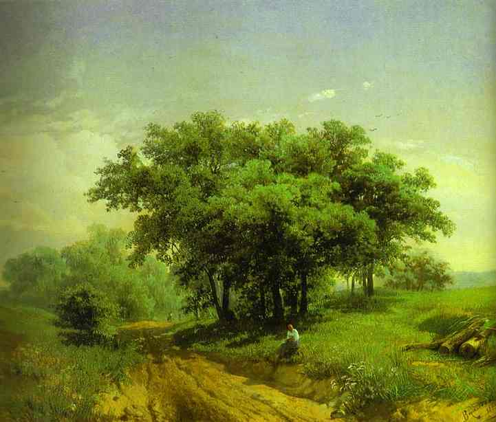 Hot Summer Day, Oil On Canvas by Fyodor Alexandrovich Vasilyev (1850-1873, Russia)