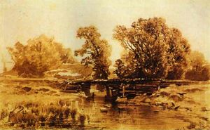 Fyodor Alexandrovich Vasilyev - Bridge over a Brook
