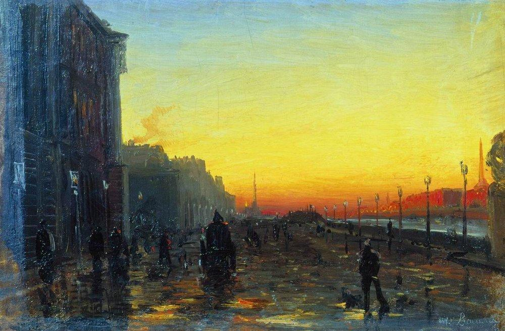 Dawn in St. Petersburg, 1870 by Fyodor Alexandrovich Vasilyev (1850-1873, Russia) | Art Reproduction | ArtsDot.com