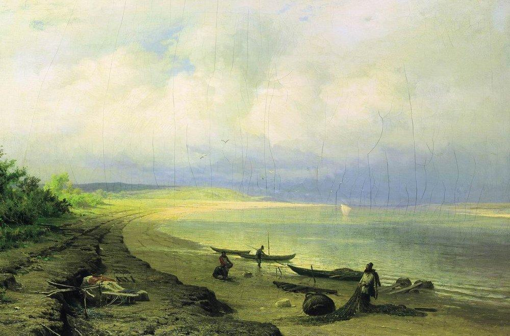 Bank of the Volga after the Storm, 1871 by Fyodor Alexandrovich Vasilyev (1850-1873, Russia)