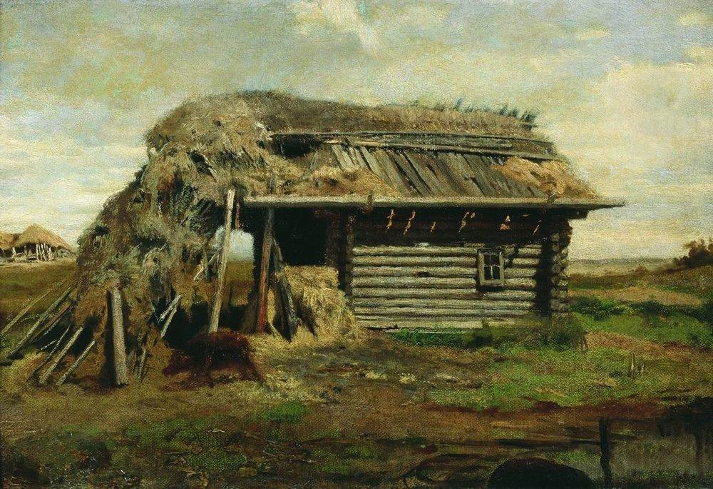 Peasant's House by Fyodor Alexandrovich Vasilyev (1850-1873, Russia)