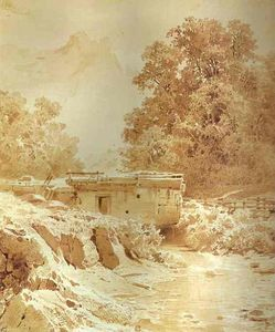 Fyodor Alexandrovich Vasilyev - Water Mill on a Mountain River. Crimea