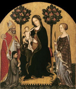 Gentile Da Fabriano - Mary Enthroned with the Child, Saints and a Donor