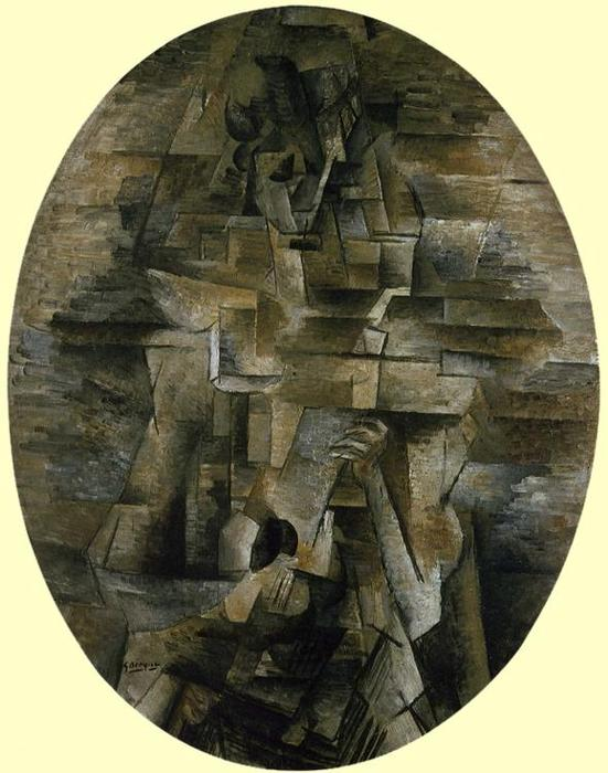 Woman with a Mandolin, 1910 by Georges Braque (1882-1963, France) |  | ArtsDot.com