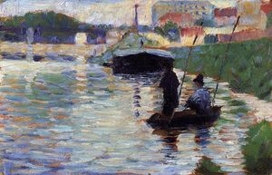 Georges Pierre Seurat - The Bridge - View of the Seine