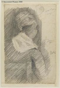 Georges Pierre Seurat - Female from back (black woman)
