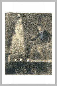 Georges Pierre Seurat - The scene in the theater