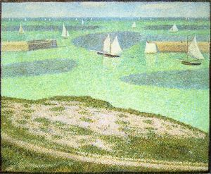 Georges Pierre Seurat - Port-en-Bessin Entrance to the Harbor