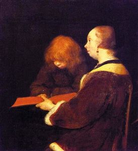 Gerard Ter Borch - The Reading Lesson
