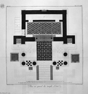 Giovanni Battista Piranesi - Floor plan for the great Temple of Isis