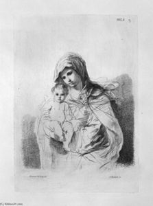 Giovanni Battista Piranesi - The Virgin and Child in half-figure in her arms, from Guercino