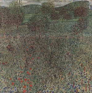 Gustav Klimt - Blooming field