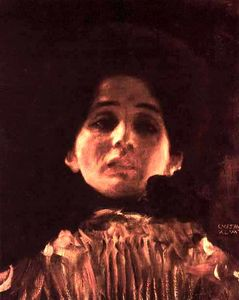 Gustav Klimt - Full-face Portrait of a Lady