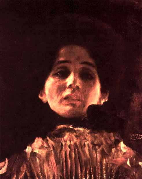 Full-face Portrait of a Lady, 1899 by Gustav Klimt (1862-1918, Austria) | Paintings Reproductions Gustav Klimt | ArtsDot.com