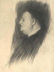Gustav Klimt - Portrait of a man heading left