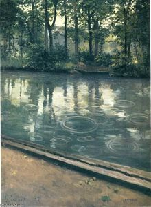 Gustave Caillebotte - The Yerres, Rain