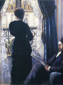 Gustave Caillebotte - Interior, Woman at the Window