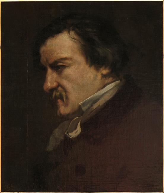 Portrait of Champfleury, 1855 by Gustave Courbet (1819-1877, France) | Museum Art Reproductions | ArtsDot.com