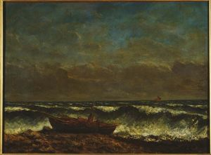 Gustave Courbet - Stormy Sea (The Wave)