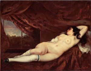 Gustave Courbet - Sleeping Nude Woman