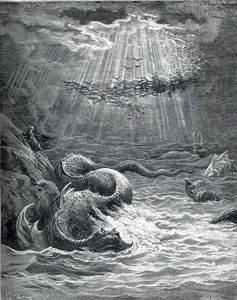 Paul Gustave Doré - The Creation of Fish and Birds
