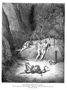 Paul Gustave Doré - Transformation into Snakes
