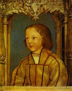 Hans Holbein The Younger - Portrait of a Boy with Blond Hair