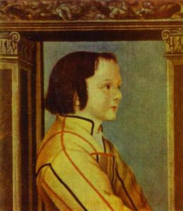 Hans Holbein The Younger - Portrait of a Boy with Chestnut Hair