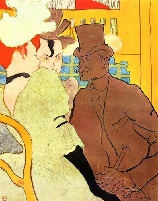 The Englishman at the Moulin Rouge, 1892 by Henri De Toulouse Lautrec (1864-1901, France)