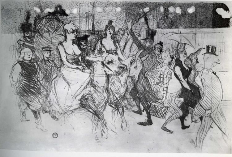 Gala at the Moulin Rouge, 1894 by Henri De Toulouse Lautrec (1864-1901, France)