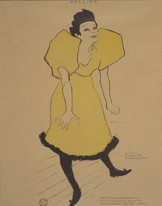 Polaire, 1895 by Henri De Toulouse Lautrec (1864-1901, France) | Art Reproduction | ArtsDot.com