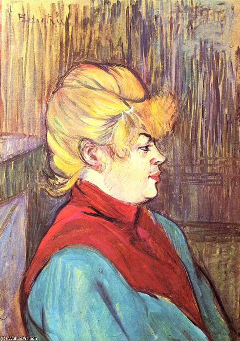 Woman brothel, Oil by Henri De Toulouse Lautrec (1864-1901, France)